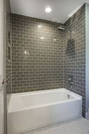 bathroom remodel tile ideas our bathroom remodel greige subway tile and more subway tile