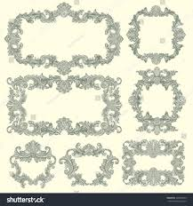 Framework Design by Victorian Baroque Floral Ornament Decorative Pattern Stock Vector