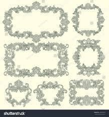 framework design victorian baroque floral ornament decorative pattern stock vector