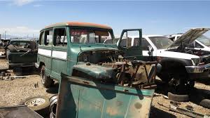 willys jeep truck junkyard treasure 1956 willys jeep station wagon autoweek