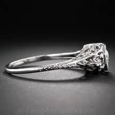 art deco diamond filigree engagement ring