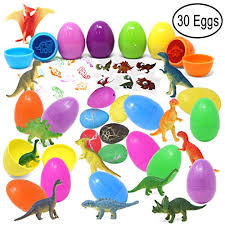 dinosaur easter eggs joyin 30 pieces prefilled easter eggs with dinosaur figures