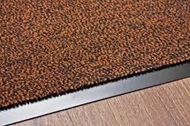 non slip dark brown black door mats rubber backed kitchen mat pvc