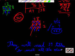 division the area model word problems part ii with double digit