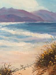 Vintage Beach Decor Vintage Beach Painting Vintage Seascape Beach Scene Oil