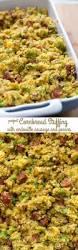 dressing recipe for thanksgiving cornbread stuffing with andouille sausage crazy for crust