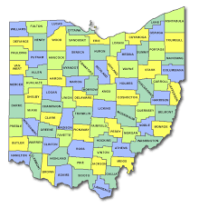map of counties in ohio ohio cart licensing county state and regulations