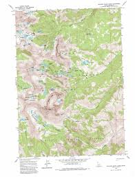 Virginia Mountains Map by Boulder Chain Lakes Topographic Map Id Usgs Topo Quad 44114a5
