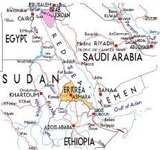 africa map eritrea map of eritrea in africa