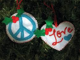 peace felt ornament patterns imagine our