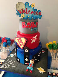 marvel baby shower theme baby shower cake de superhéroes para