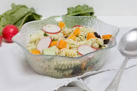pasta salad with cucumber and basil pesto ohmydish com