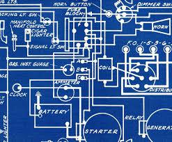 Mechanical Decor 1927 Antique Blueprint Auto Car Chrysler Imperial Engineering