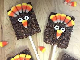 gobble gobble let s make thanksgiving rice krispies treat turkey