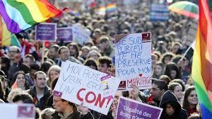mariage pour tous mariage pour tous une manifestation au à des homosexuels vidéos