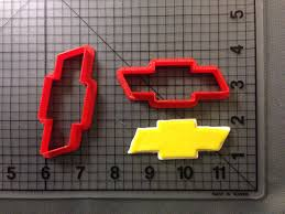 logo chevrolet 3d chevrolet logo cookie cutter set
