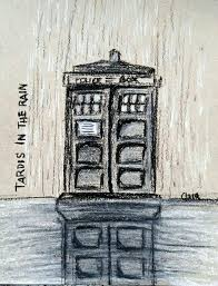tardis charcoal sketch doctor who amino