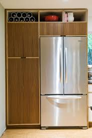 Kitchen Cabinets Refrigerator Surround by Walnut Kitchen Cabinets 4 Fsc Walnut Europly Fridge Surround