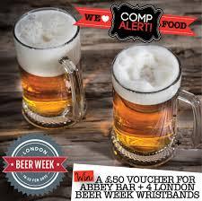win a 50 voucher for abbey bar 4 london beer week wristbands