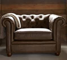 Pre Owned Chesterfield Sofa by Chesterfield Leather Armchair Pottery Barn Au