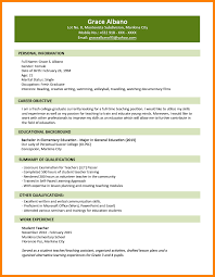Sample Resume Language by 7 Occupation For Fresh Graduate Resume Language