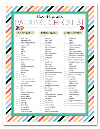 traveling checklist images Trip checklists gecce tackletarts co jpg