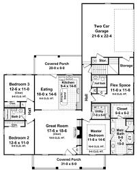 Southern Floor Plans Southern Style House Plan 3 Beds 2 50 Baths 1888 Sq Ft Plan 21 253
