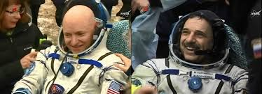 nasa astronaut safely back on earth after one year