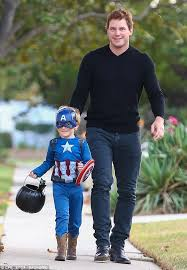 chris pratt spends halloween with son jack daily mail online