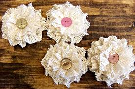burlap flowers small burlap flowers rolled flowers corneroftheshop