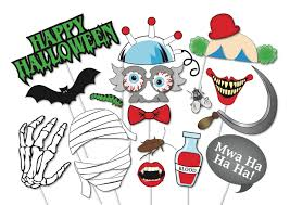 halloween vampire props halloween photo booth props set 37 piece printable witch