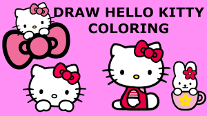 hello kitty coloring pages how to draw and color hello kitty youtube