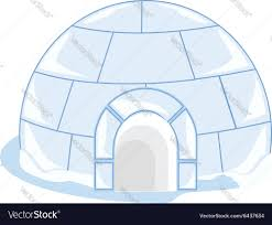 ice house igloo royalty free vector image vectorstock
