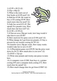 money teaching ideas