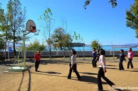 north korean girls playing basketball abandoned kansai