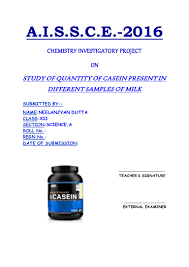 study of quantity of caesin present in different samples of milk