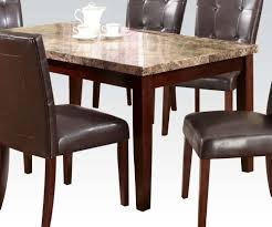 kitchen marble top marble top kitchen table acme granada brown dining in walnut by