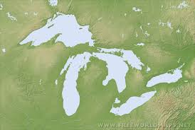 United States Map Blank by Great Lakes Maps
