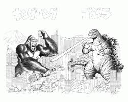 king kong coloring page kids coloring