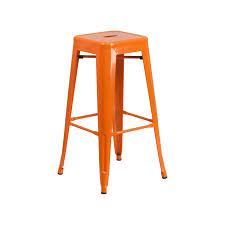 Tolix Bar Table Princeton Orange Finish Tolix Bar Stool Tablebasedepot