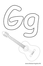 guitar coloring pages to print awesome letter g coloring page 38 for your coloring print with