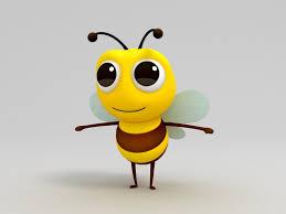 3d bee character cartoon turbosquid 1165015