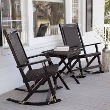Wicker Rocking Chairs For Porch Lawn Garden Enchanting Coral Coast Willow Bay Folding Resin Wicker