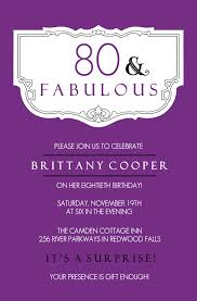 80th birthday party invitations u2013 gangcraft net