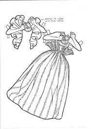 princess paper dolls coloring pages alltoys for