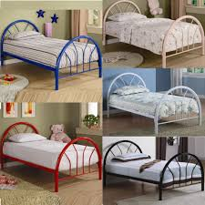 Glossy White Bedroom Furniture Coaster High Glossy White Black Blue Pink Red Youth Twin Metal Bed