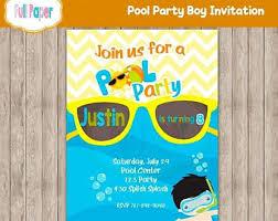 items similar to pool birthday supplies digital pool party
