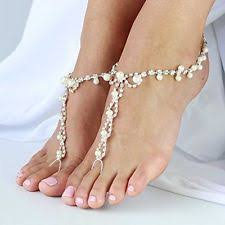 barefoot sandals for wedding jewsun 2 pc barefoot sandals with rhinestones and pearl