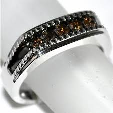 Chocolate Diamond Wedding Rings by Mens Wedding Band With Chocolate Diamonds 0 5ctw 10k White Gold