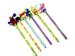 last minute new year u0027s eve kids craft project pencil ribbon wands